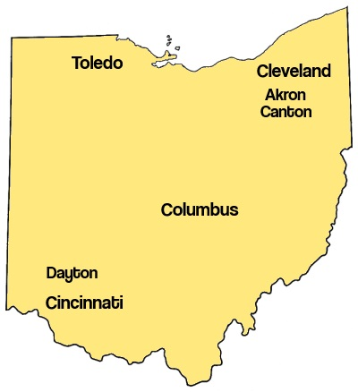 Ohio Roofers Map